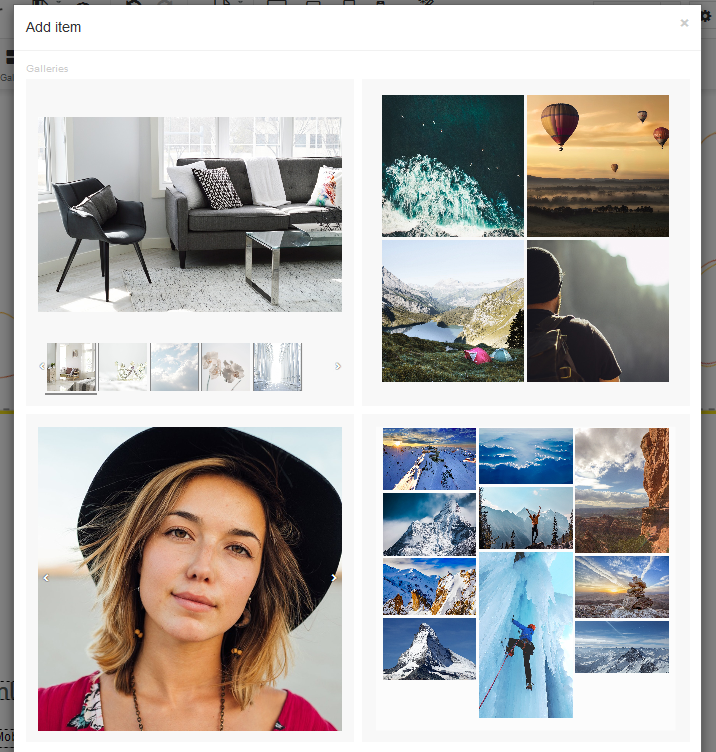 Add a gallery to your website