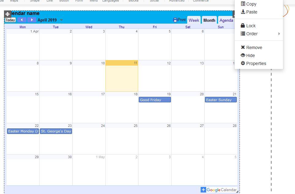 Adding a google calendar to your website