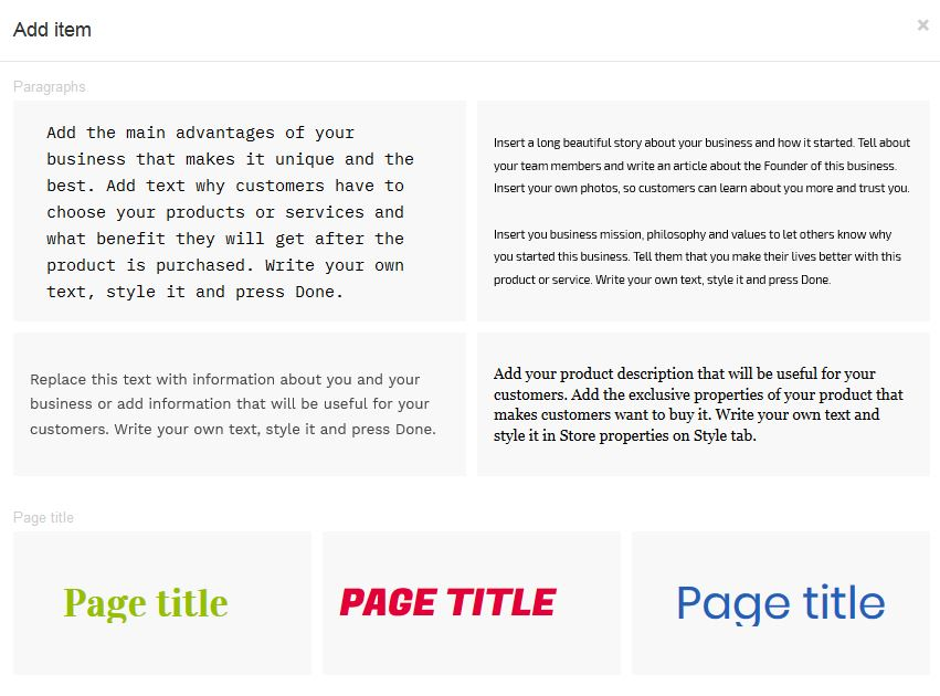 Adding text to your website